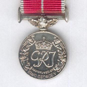 """Silver Medal (for military, with King George VI """"GRI"""" cypher, with gallantry emblem) Reverse"""