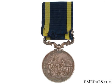 "Silver Medal (with ""CHILIANWALA"" and ""GOOJERAT"" clasps) Reverse"