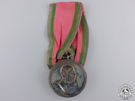 Jubilee Medal for 25 Years of Reign in Silver Obverse