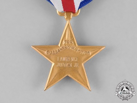 Silver Star (Engraved) Reverse Detail