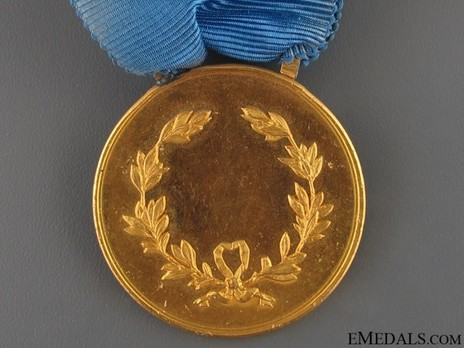 Gold Medal (1887-1943) Reverse