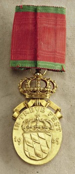 Prince Regent Luitpold Medal, Gold Medal (with Crown)
