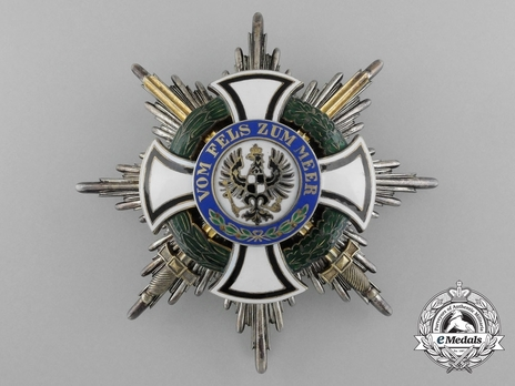 Grand Commander Breast Star (with swords) (by J. Godet & Sohn) Obverse