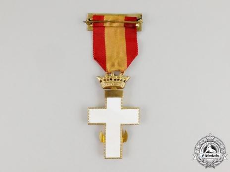 1st Class Cross (white distinction) (Silver gilt) Reverse