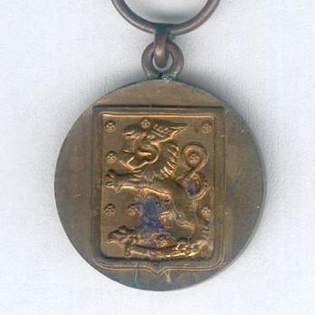 Miniature Commemorative Medal for the Continuation War, Bronze Medal Reverse
