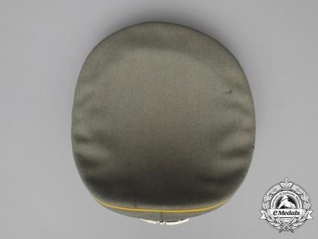 German Army Post-1936 Signals NCO/EM's Visor Cap Top