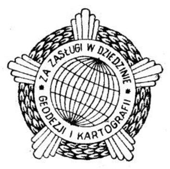 Decoration for Merit to Geodesy and Cartography, I Class Obverse
