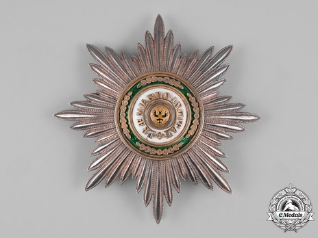 Order of Saint Stanislaus, Type II, Civil Division, I & II Class Breast Star (for non-christians)