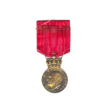 Olav V's Commemorative Medal in Silver