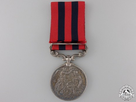 """Silver Medal (with """"BURMA 1889-92"""" clasp) Reverse"""