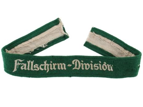 Luftwaffe Fallschirm Division Cuff Title (NCO/EM version) Obverse