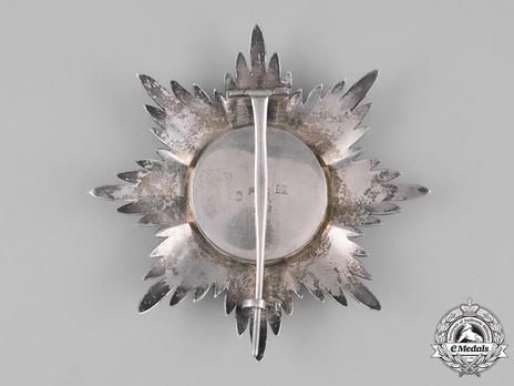 Civil Division, I Class Breast Star (in silver) Reverse