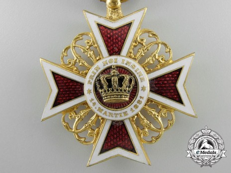 Order of the Romanian Crown, Type I, Civil Division, Officer's Cross Obverse