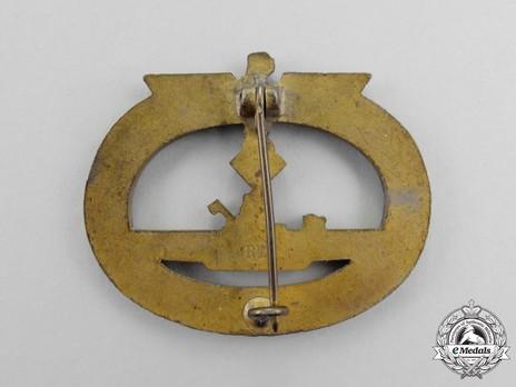 Submarine War Badge, by R. Karneth Reverse