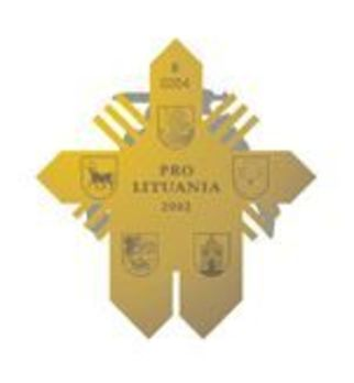 Order for Merits to Lithuania, Commander's Cross (for Humanitarian Aid) Reverse
