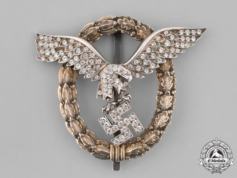 Combined Pilot/Observer Badge (2nd Model), with Diamonds Obverse