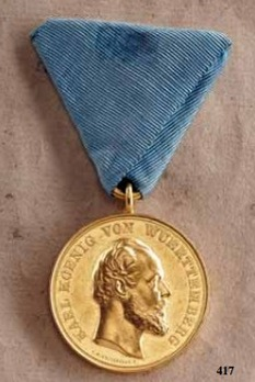 """Medal for the Arts and Sciences, Type III, in Small Gold (stamped """"C.SCHNITZSPAHN"""")"""