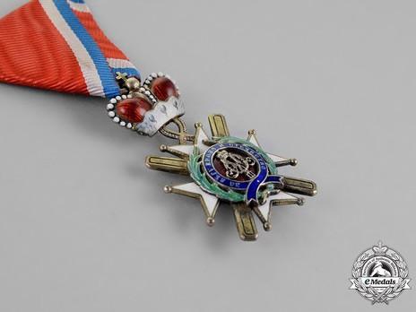 Order of the Cross of Takovo, Civil Division, IV Class Obverse