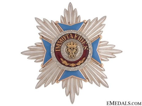 Dukely Order of Henry the Lion, Grand Cross Breast Star (in silver and gold) Obverse