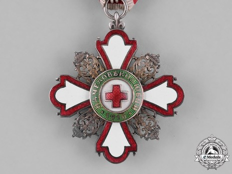 Order for Incentive to Humanity (Red Cross), II Class (for Men) Obverse