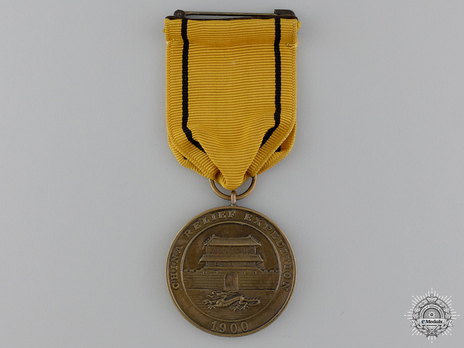 Bronze Medal (for Navy, 1913-) (with 1st style ribbon) Obverse