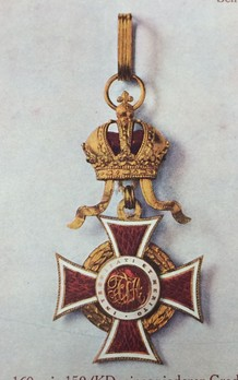 Order of Leopold, Type III, Military Division, Commander Cross (with lower class War Decoration)