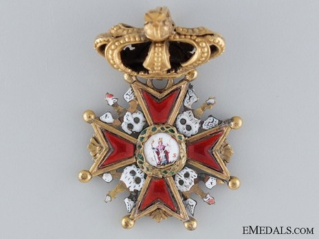 Order of Saint Stanislaus, III Class Cross (with crown and crowned eagles) Obverse