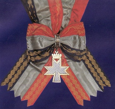 Grand Order of Queen Jelena with Sash and Morning Star, Badge Obverse