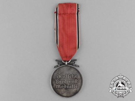 Silver Merit Medal with Swords (Gothic version) Reverse