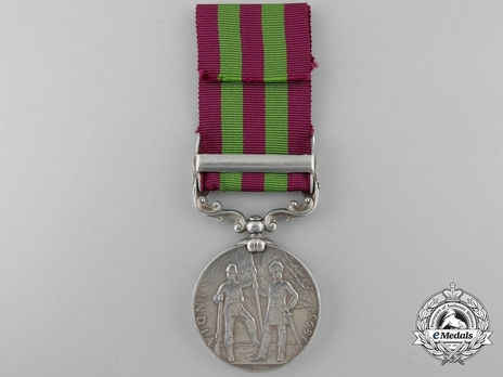 """Silver Medal (with """"WAZIRISTAN 1901-02"""" clasp) (1896-1901) Reverse"""