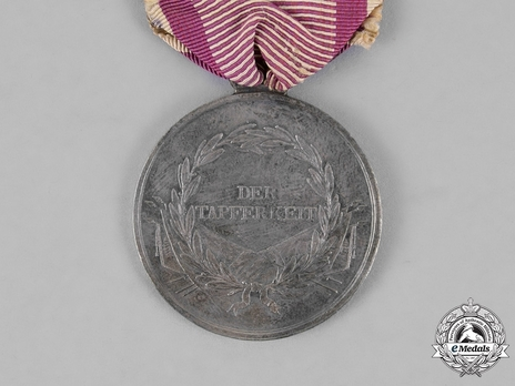 """Bravery Medal """"DER TAPFERKEIT"""", Type I, Silver Medal Reverse"""