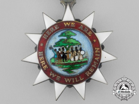 Order of the Pioneers of Liberia, Knight Obverse