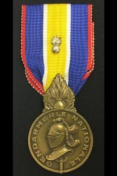Medal for the National Gendarmerie, Bronze Medal