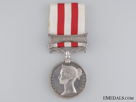 """Silver Medal (with """"DELHI"""" clasp)  Obverse"""