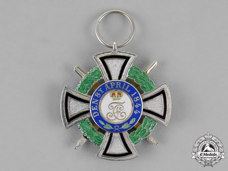 House Order of Hohenzollern, Type II, Military Division, III Class Honour Cross (1866-1918) Reverse