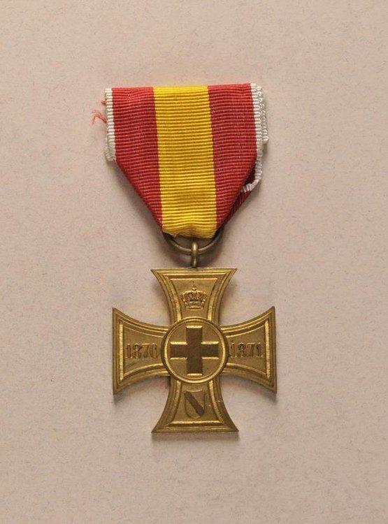 Bronze gilt cross obv s