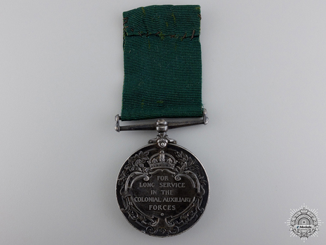 Colonial Auxiliary Forces Long Service Medal Reverse