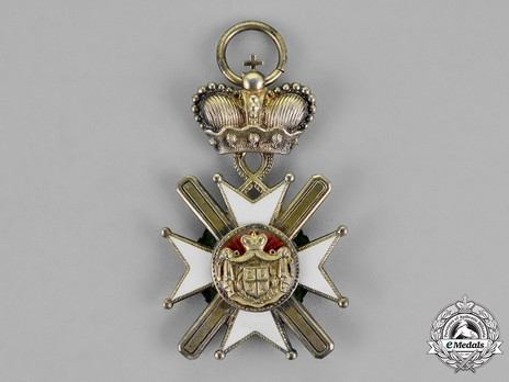 Order of the Cross of Takovo, IV Class (without swords) ReverseOrder of the Cross of Takovo, Civil Division, IV Class Reverse