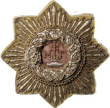 Order of St. Stephen, Type I, Grand Cross Breast Star (embroidered)
