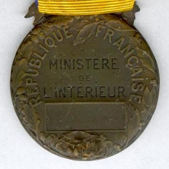 """Bronze Medal (stamped """"L. COUDRAY"""") Reverse"""