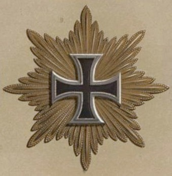 Grand Cross Breast Star (with golden rays) Obverse