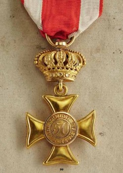 Military Long Service Cross in Gold for 50 Years