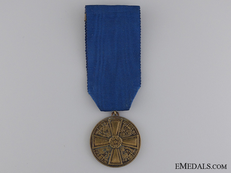 Order of the White Rose, Type I, Military Divison, III Class Bronze Medal Obverse