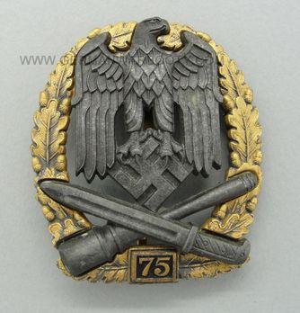 """General Assault Badge, """"75"""" Obverse"""