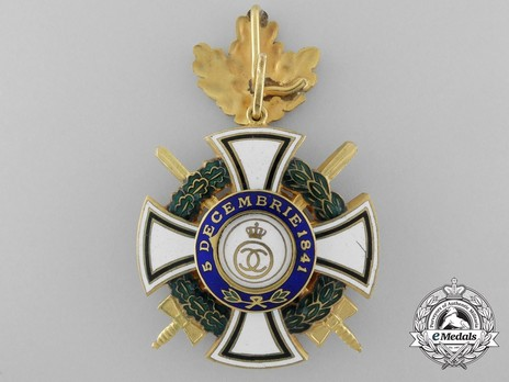 Order of the Royal House, Type II, Military Division, Commander's Cross Reverse