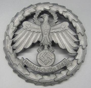 Tyrolean Marksmanship Gau Master Shooting Badge, Type III Obverse