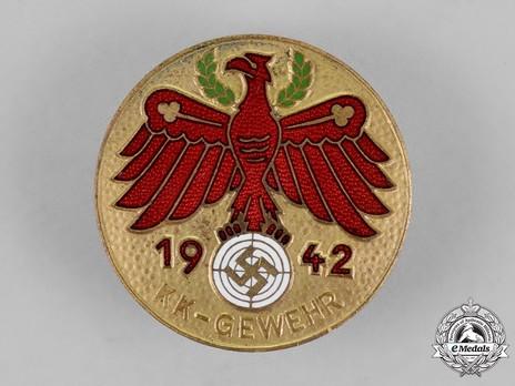 Tyrolean Marksmanship Gau Achievement Badge, Type V, for SMALL CALIBRE RIFLE Obverse
