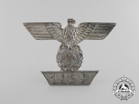 Clasp to the Iron Cross I Class, Type I, by Boerger (pinback) Obverse
