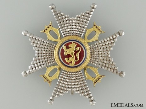 """Order of St. Olav, Commander Breast Star, Military Division (1894 stamped """"J.TOSTRUP - KRISTIANIA"""") Obverse"""