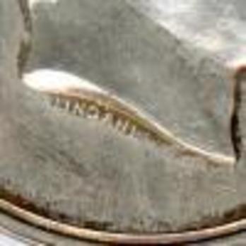 """Silver Medal (stamped """"LINDAHL"""") Detail"""